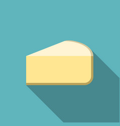 Piece of cheese icon with long shadow vector