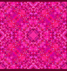 Pink seamless kaleidoscope pattern background vector