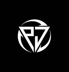 Pj logo monogram design template vector