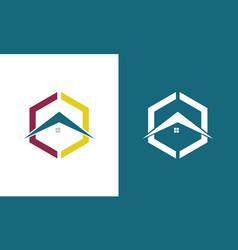 polygon rologo vector image