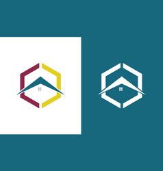 polygon roof logo vector image