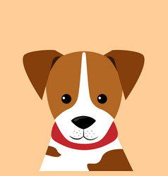 portrait of little puppy vector image