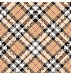 Pride of scotland gold tartan fabric textile vector