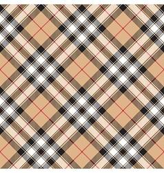 Pride of scotland gold tartan fabric textile vector