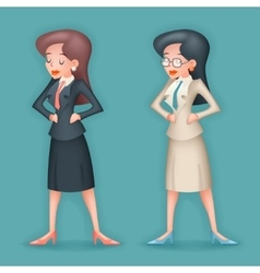 Realistic 3d Vintage Businesswoman Character Icon vector