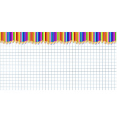 rectangle up line border made of colorful wooden vector image