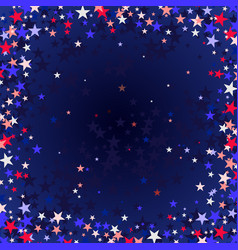 Red blue stars flying stars confetti vector