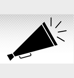Retro old megaphone with sounds - flat icon vector