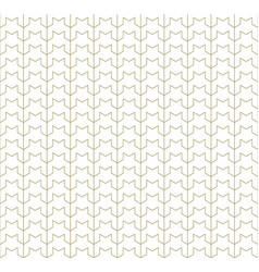 Seamless geometric pattern white and brown vector