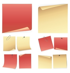 Set of colorful note paper vector image