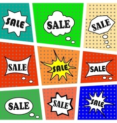 Set of icons on the inscription SALE vector image