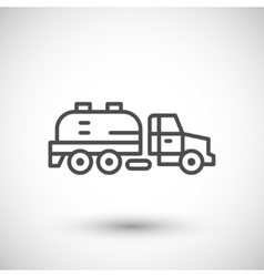 Sewage truck line icon vector