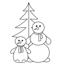Snowballs with furtree contours vector