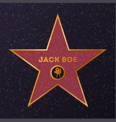 Star with name for honoring actor vector