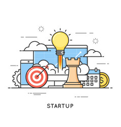startup business project launch new ideas flat vector image