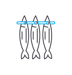stockfish linear icon concept stockfish line vector image