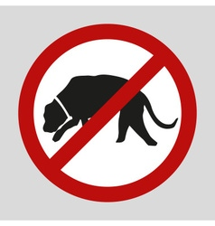 stop dogs and no dogs sign eps10 vector image