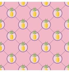 Summer pineapple pattern vector