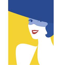 summer portrait lady pretty woman in fashion vector image