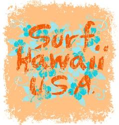 surf hawaii vector image