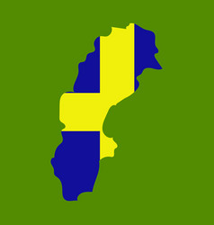 Sweden set detailed country shape with region vector