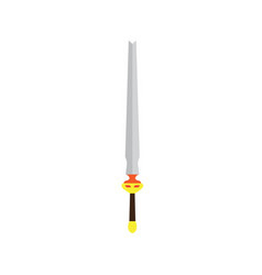 sword isolated medieval weapon steel knight blade vector image
