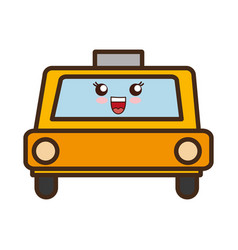 Taxi car icon vector