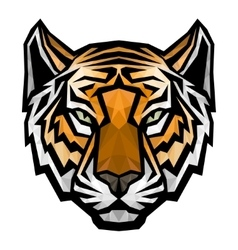 Tiger head logo mascot on white background vector