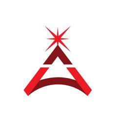 Triangle star bright logo vector