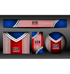 USA Flag Banner backgrounds vector image