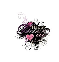 Valentines Day grunge inscription vector