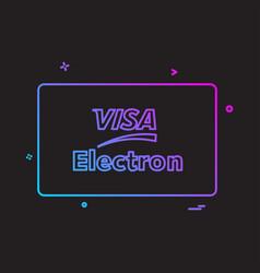 Visa electron credit card design vector