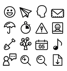 website navigation menu black line stroke icons vector image vector image