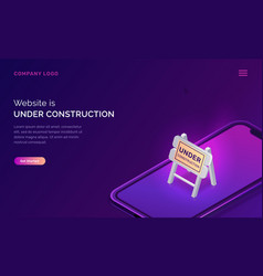 website under construction maintenance work error vector image