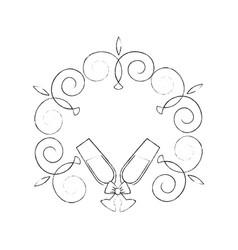 Wedding decorative symbol vector