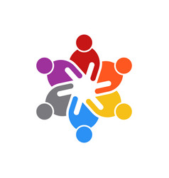 business people meeting of six people logo vector image vector image