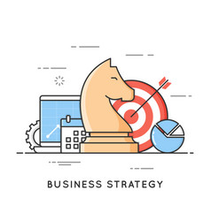 business strategy planning project management vector image vector image