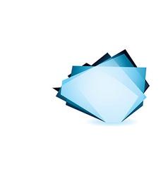 Glass shard cobalt vector image