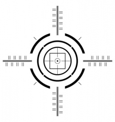 gun sight template vector image vector image