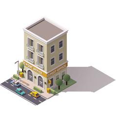 Isometric post office vector