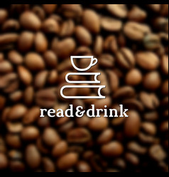 read and drink label vector image