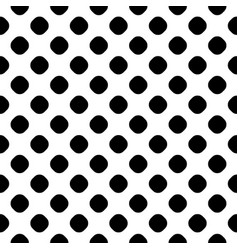 Seamless pattern black and white dotted texture vector
