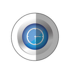 blue symbol clock icon vector image vector image