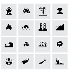 disaster icon set vector image