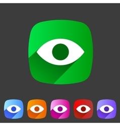 Eye watch visitor icon flat web sign symbol logo vector image vector image