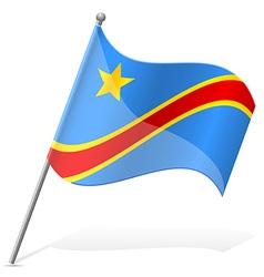 flag of Democratic Republic of Congo vector image vector image