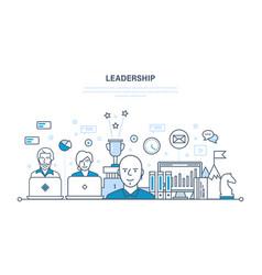 leadership development management career growth vector image