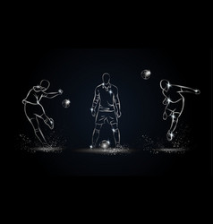 football players set vector image