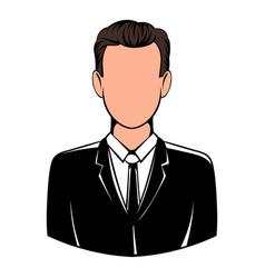 man in black suit icon icon cartoon vector image