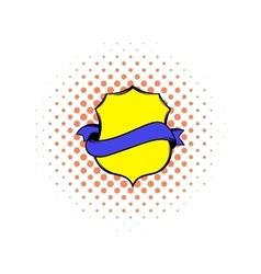 Medieval coat comics icon vector image